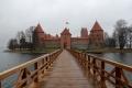 Litauen 1 - Trakai - Die Burg in Trakai liegt auf einer Insel und ist nur über eine Brücke zu erreichen