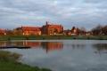 Polen4 - Marienburg, mein Blick abends vom Zelt