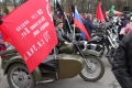 Veliky Novgorod - Stadtfest mit Motorädern, Live-Musik und Sowjet-Fahnen