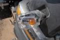 Das Klebeband ist aus dem Yamaha-Zentrum in Ulan Ude, die Birne aus dem Autozubehör. Original-Ersatzteile zu bekommen stellt sich als schwierig heraus.
